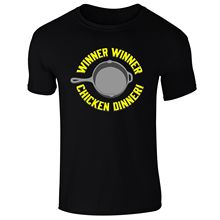 Mens Winner Chicken Dinner PUBG Inspired Gamer T-Shirt NEW S-XXL  Funny Tops Tee New Unisex free shipping