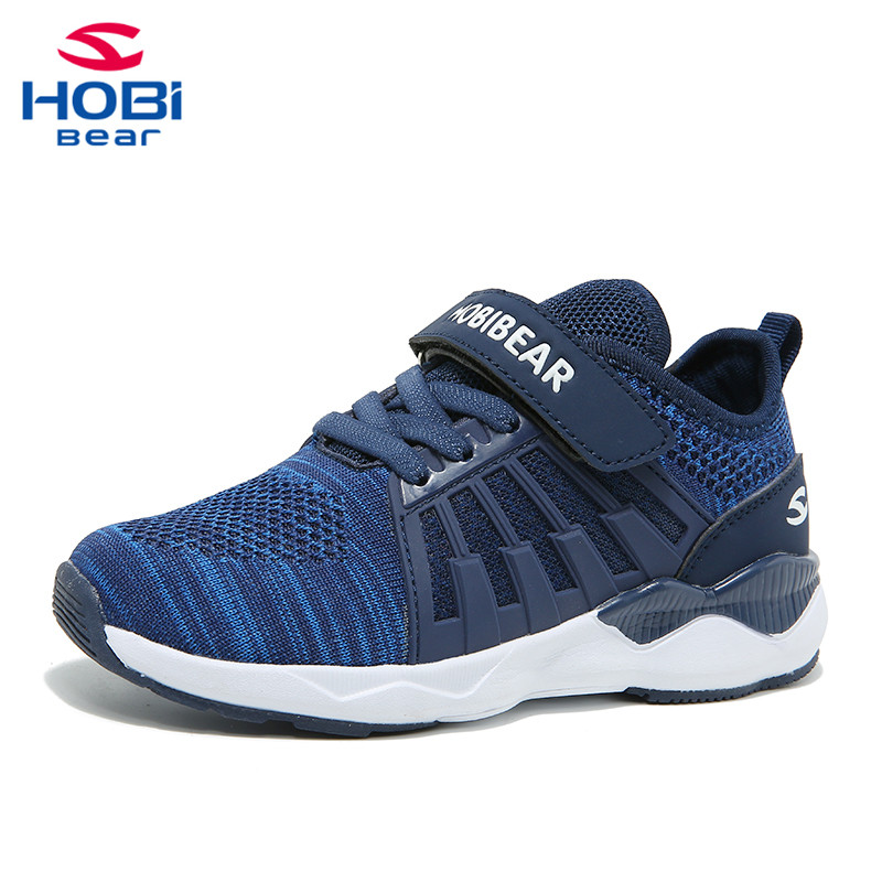 Kids Sport Shoes for Boys Trainer Girl Children Sneakers Shoes Boys Running Footwear Tennis Mesh Casual Slip on Hobibear H7617 цена