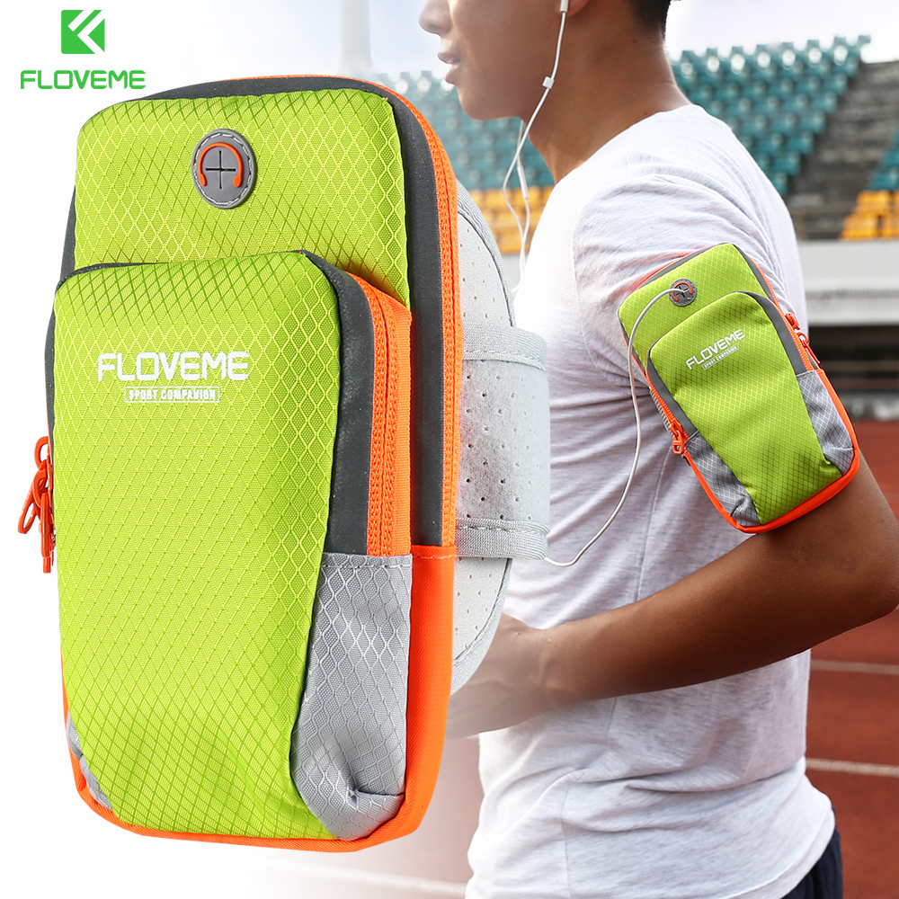 FLOVEME Armband For iPhone 7 Plus iPhone 6s Universal Sport Running Bag For iPhone 7 6 Plus Mobile Phone Arm Band Outdoor Pouch