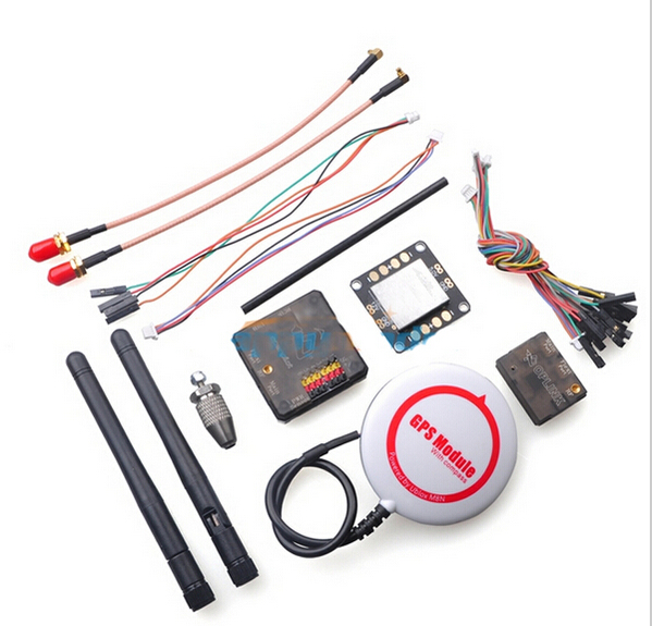 OpenPilot CC3D Revolution Flight Controller+NEO-M8N GPS+OPlinsceiver+Powerk Tran Distribution Board Combo for FPV Multicopter fpv neo m8n gps