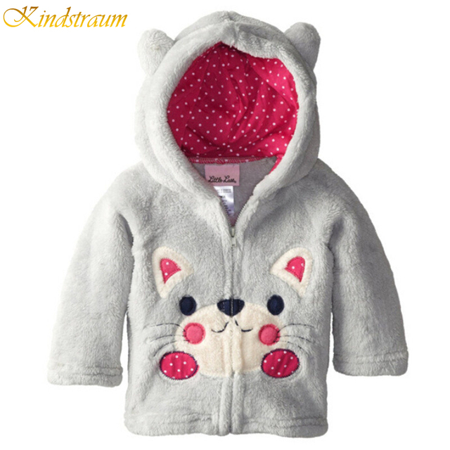 Kindstraum 2016 New Kids Winter Coat Autumn Warm Character Style Casual Jackets Coral Fleece Baby Outerwear, MC101