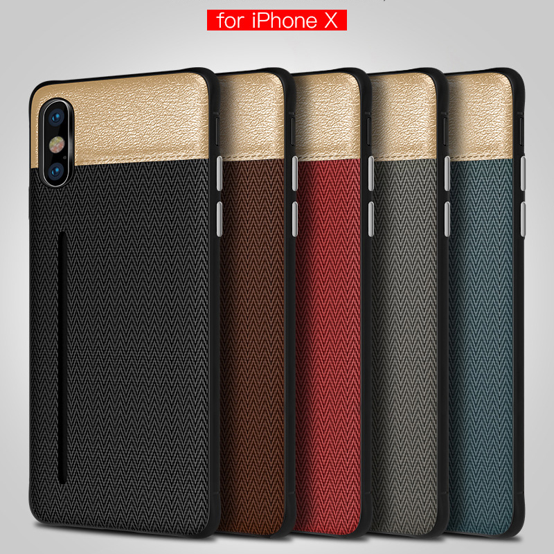 Wholesale <font><b>LOGO</b></font> Storage card Cloth Phone <font><b>Case</b></font> For <font><b>iPhone</b></font> xs MAX <font><b>Leather</b></font> PC Tpu Back <font><b>case</b></font> for <font><b>Iphone</b></font> 7 6 6s <font><b>8</b></font> plus X XR Cover capa image