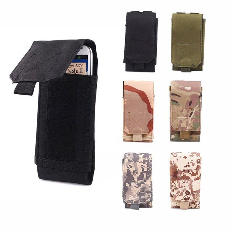 MOLLE Heuptas Army Tactical Military Mobile Phone Bag Belt Pouch Case Cover Pouch Voor Xiaomi iPhone XR XS 11 Pro Max Nokia 3