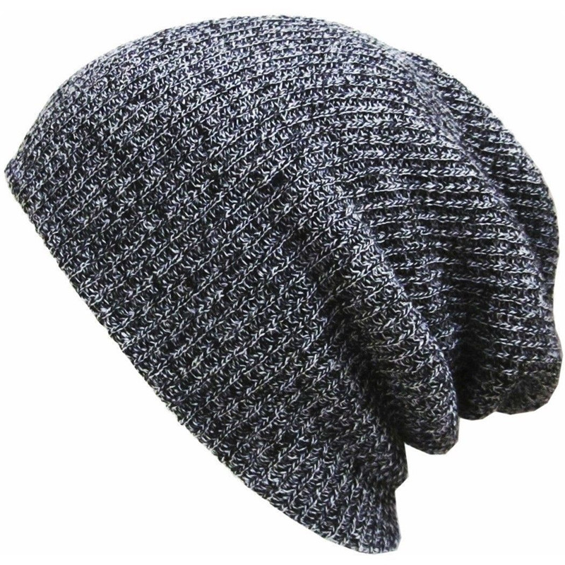 Stylish Autumn Winter Windproof 2017 New Unisex Women Men Slouch Skull Oversize Long   Beanie   Women   Beanies   Cap Crochet Knit Hat