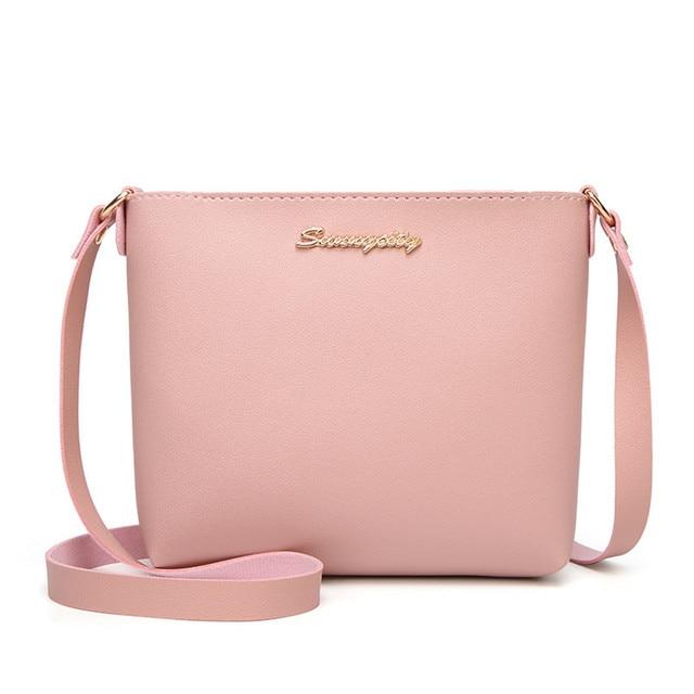 2019 модная женская однотонная сумка на молнии через плечо сумка-мессенджер  сумка для монет маленькая cbd0e675cfd