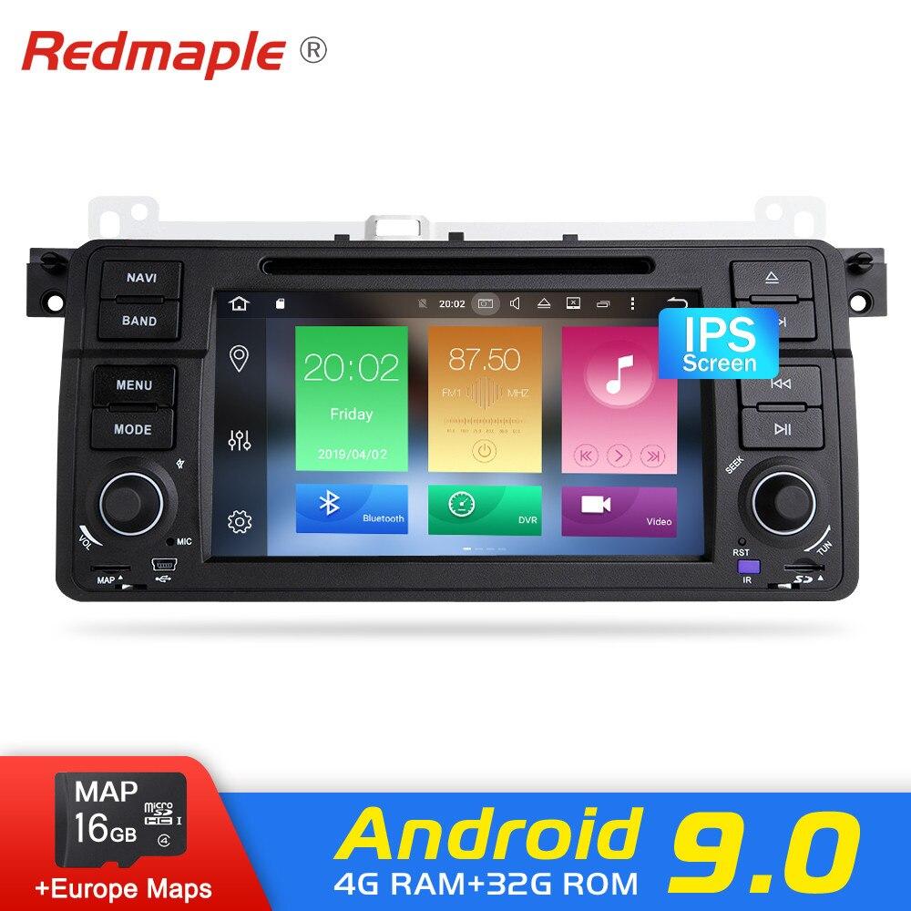Lecteur multimédia GPS 4G RAM Android 9.0 pour BMW/E46/M3/Rover/3 séries Audio Auto DVD Radio Navigation stéréo