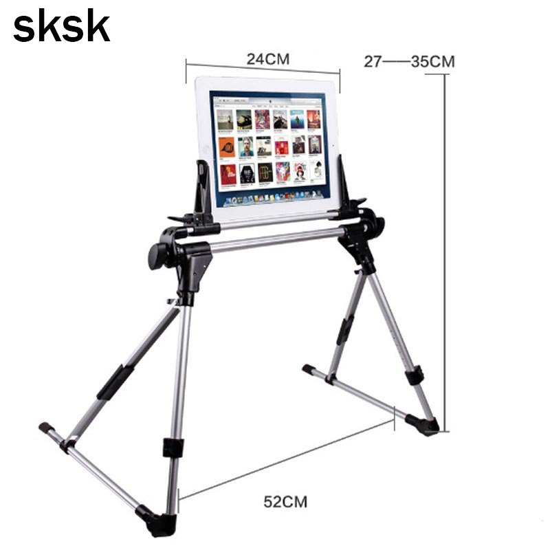 SKSK Auto Lock Tablet Mount Holder Floor Desktop Stand Lazy Bed Tablet Holder Mount Bracket for iPad air 2 4 5 mini Nexus 7 mobile phone