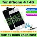 Negro o blanco nuevo Original pantalla LCD táctil digitalizador para el iPhone 4 4 G 4S reemplazo NO DEAD PIXEL + Kit de herramientas de reparación