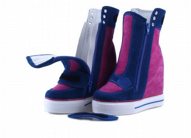 Women Genuine leather Platform Wedge Sneakers
