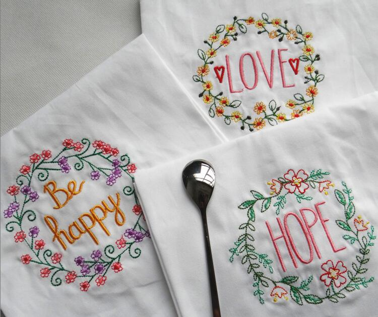 Embroidery Cotton Placemat Pad Table Napkin With Fashion Dining Table Mats Table Pad Coaster Table Decoration Kitchen ware