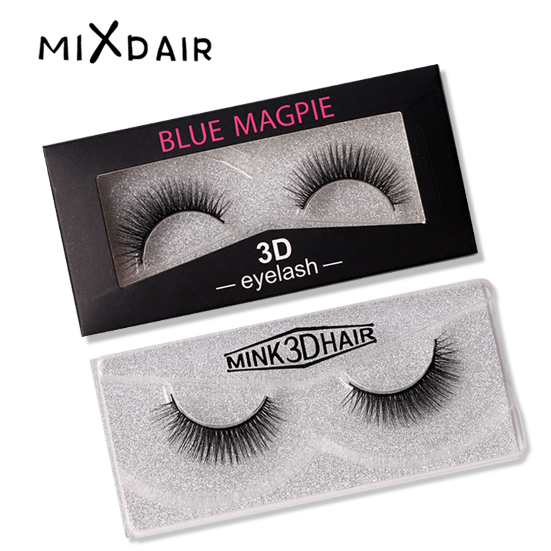 1 Pair Hand Made Eyelashes 3D Mink Lashes Luxury Extension False Eye Lashes Cruelty Upper Lashes Natural Long Eyes Makeup Tool