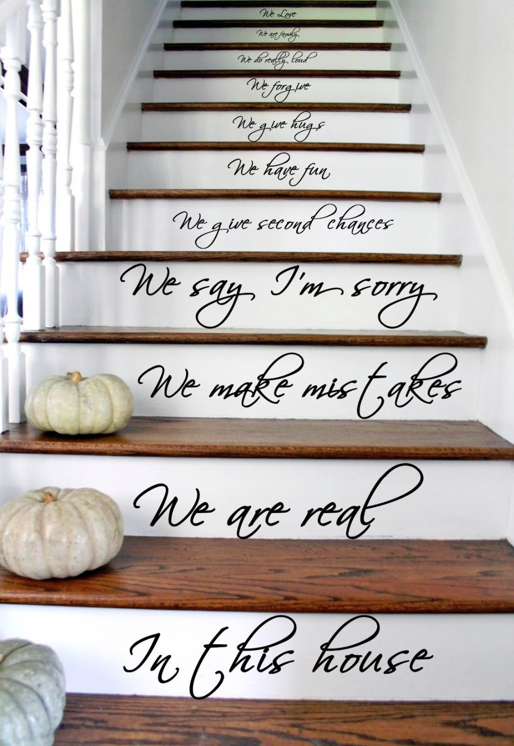 Home Rules In this House Text Quote Wall Sticker