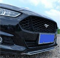 Black Primer Car Front bumper Mesh Grille Grills Cover For Ford Mondeo/ Fusion 2013 2014 2015 2016 Mustang Style By EMS