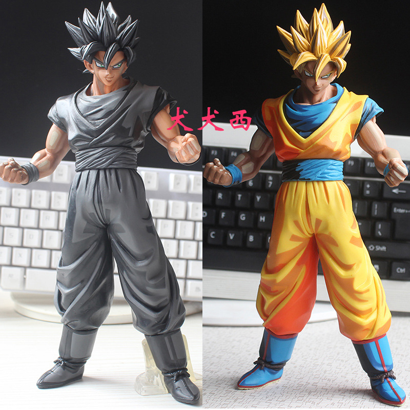 2PCS Dragon Ball Z MSP Son Goku Chocolate Comics Ver. black goku PVC Action Figure dragonball MSP Master Stars Piece Model Toy 6pcs set dragon ball z son goku vegeta broly kakarotto battle ver pvc action figures dragonball figure toys collection model toy