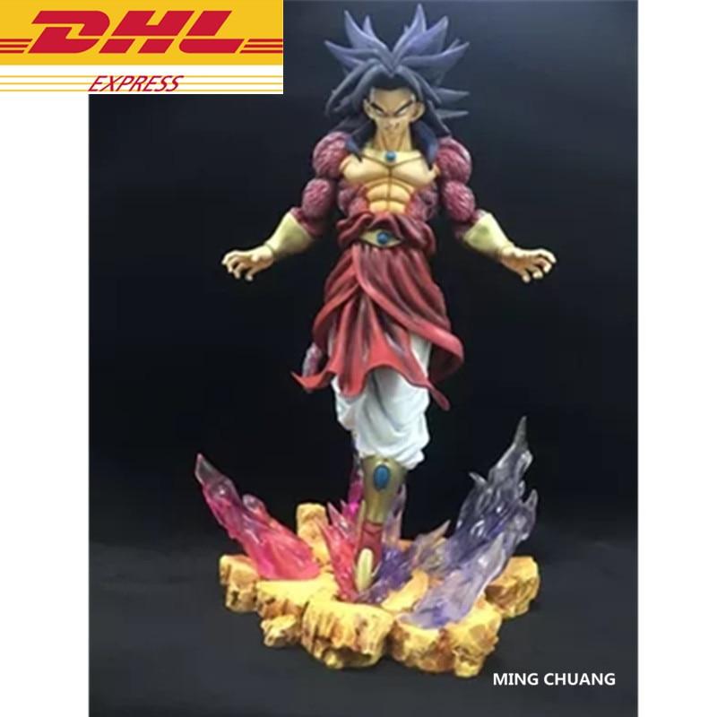 Dragon Ball Z Statue Super Saiyan Broli Buste Fils Goku Ennemi Plein-Longueur Portrait GK Action Figure Collection Modèle jouet D336
