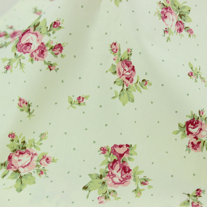 1 meter floral 100 cotton fabric for sewing quilts for Kids apparel fabric