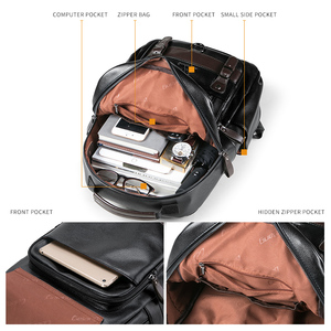 Image 5 - LIELANG Backpack Mens Mochila Masculina Men Fashion Trend Large Capacity Youth Leisure Black Travel Leather Computer Bag Mens