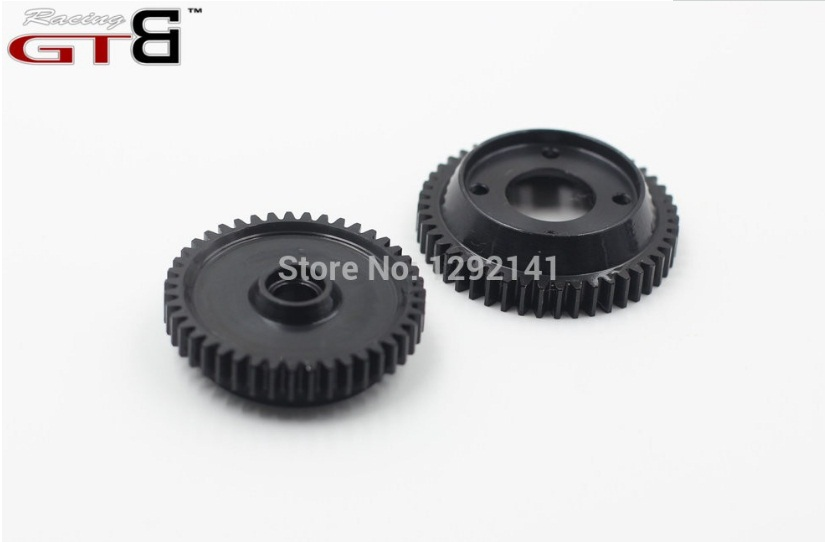 Hardened Steel Gear Set for Kyosho Inferno GT2 2-Speed (46T / 43T) Shoe Type GP the inferno