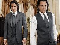 Men Slim Fit Suits Jacket Pants Vest Tuxedo Wedding Coat Trousers Waistcoat Design 2016 Fashion New