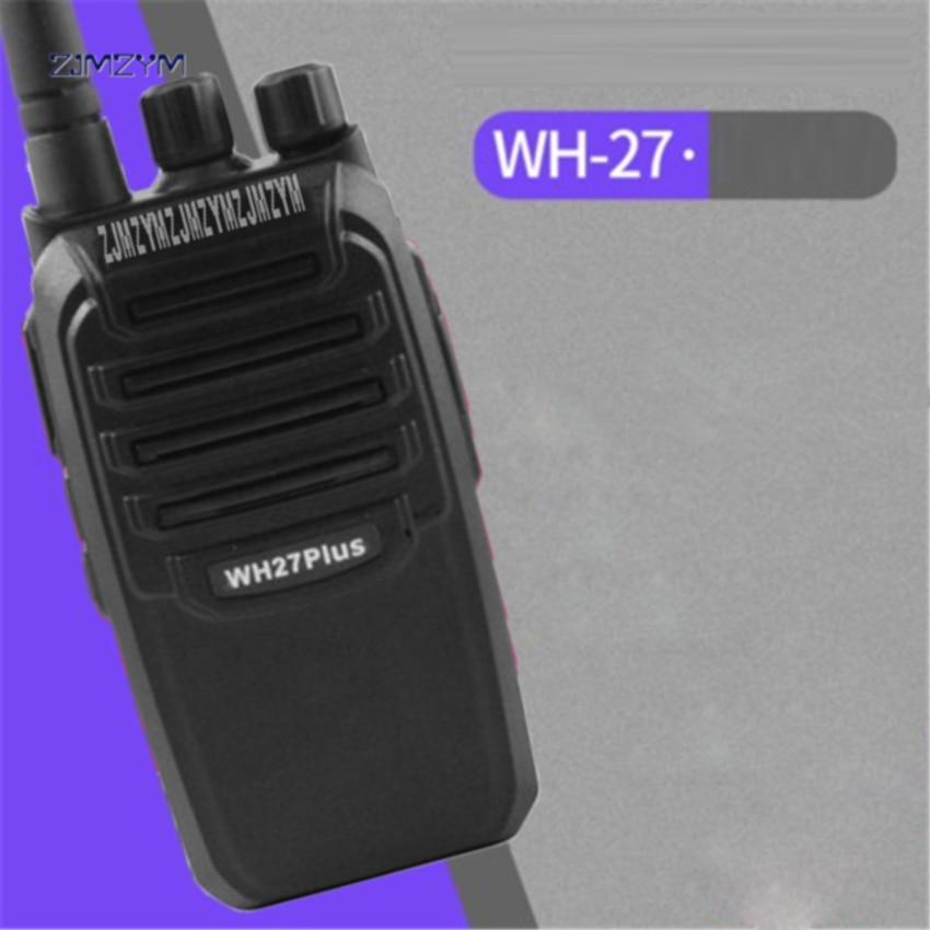 Nouveau WH27B professionnel talkie-walkie 3800 mAh 6 W Portable Ham Radio bidirectionnelle 403-470 MHz fréquence 1.5-6 km téléavertisseurs