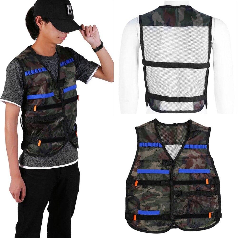 54*47cm Men Military Tactical Vest Wargame Body Molle Armor Boys Hunting Vest CS Outdoor Jungle Equipment For Nerf Elite Games