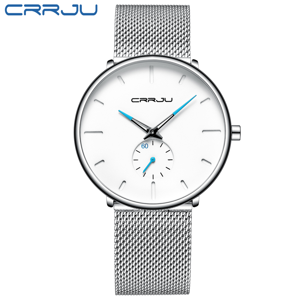 Men Watch CRRJU Watch Women and Top Brand Luxury Famous Dress Watches Fashion Unisex Ultra Thin Wristwatch Relojes Para Hombre HTB1cHj0OMHqK1RjSZFEq6AGMXXao