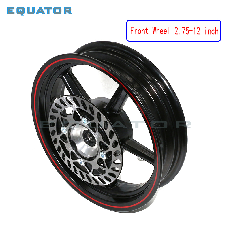 Motorcycle parts 12mm 15mm hole 2.75-12inch Front Dirt Pit Bike 12inch Vacuum Wheel Rim Front brake disc motorcycle front