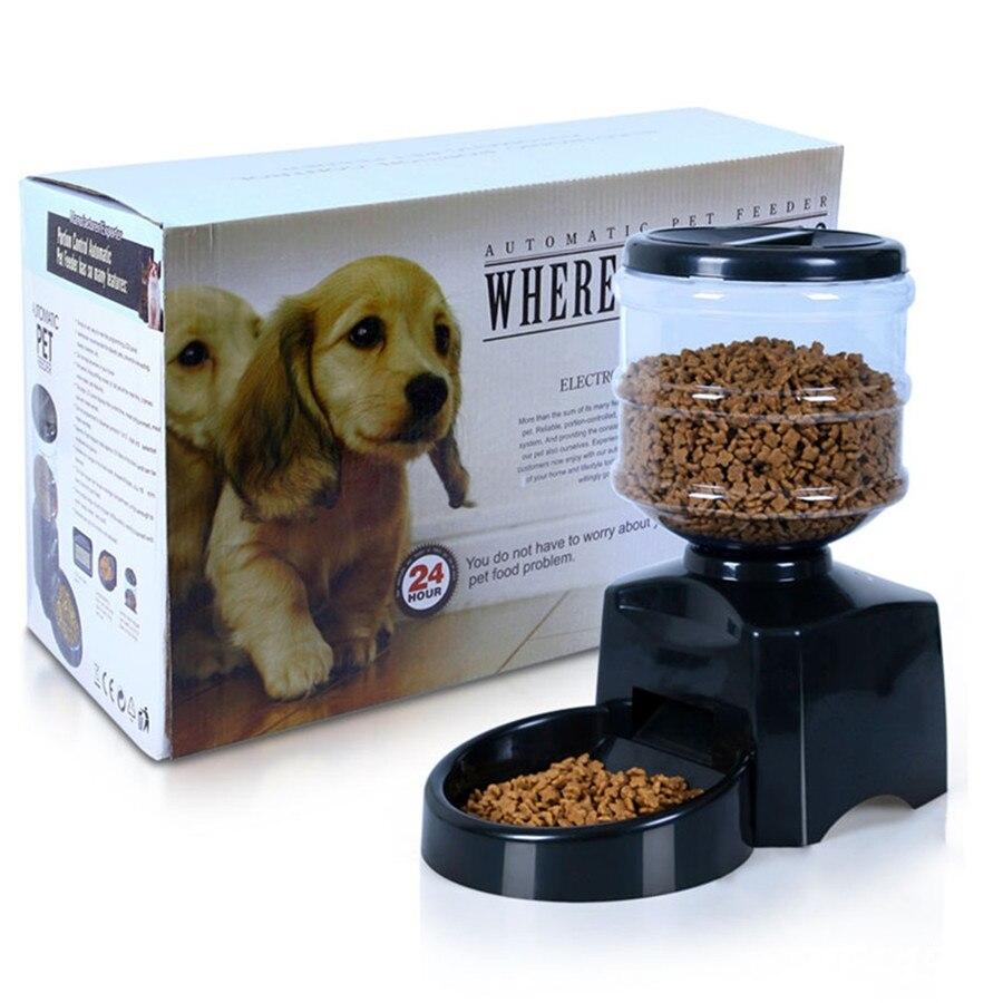 5.5L Черный Автоматический питомец для собаки кошки автоматический диспенсер Низкий индикатор батареи на ЖК-дисплей товары для собак кошки е...