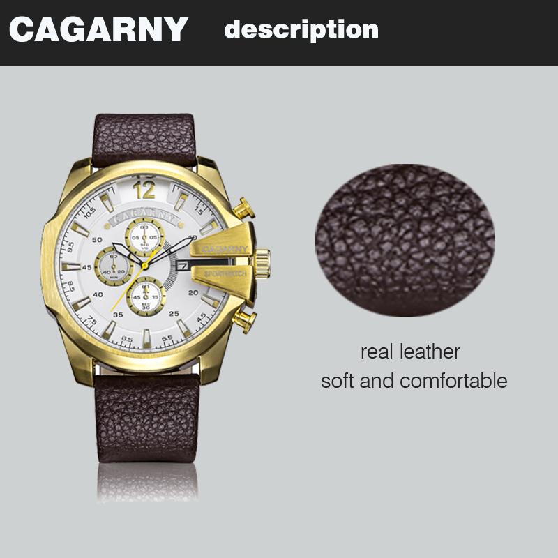 cagarny dz style quartz watch men golden mens watches (10)