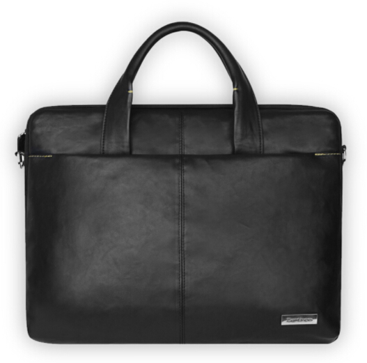 Laptop Bag For Macbook Air 13 Case 13 14 15 Inch Laptop Black PU Large Space Briefcase Shoulder Bag With Removal Belt