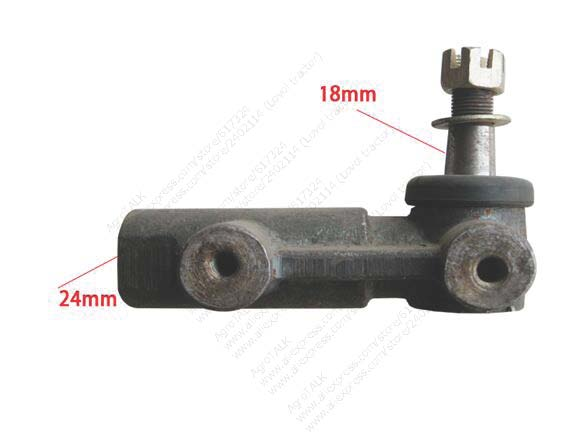 Jinma 404 tractor parts, steering joint for power cylinder, part number: taishan km454 km554 tractor parts upper adjusting bar for lifting link part number 450 56 019