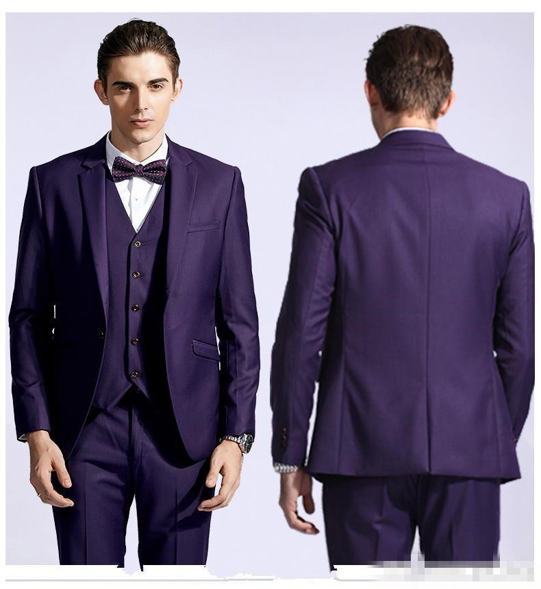 Online Get Cheap Purple Prom Tuxedos Slim Fit -Aliexpress.com ...