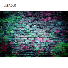 Laeacco Brick Wall Printing Graffiti Grunge Portrait Photography Backgrounds Customized Photographic Backdrops For Photo Studio