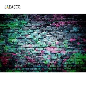 Image 2 - Laeacco koyu tuğla duvar grafiti bebek portre Grunge fotoğraf arka planında vinil fotoğraf fotoğraf stüdyosu için arka planlar Photophone