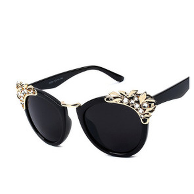 2018 Fashion Brand Designer Luxury Diamond Womens Sunglasses Cat Eye Female Mirror Sunglass Rhinestone Sun Glasses For Women