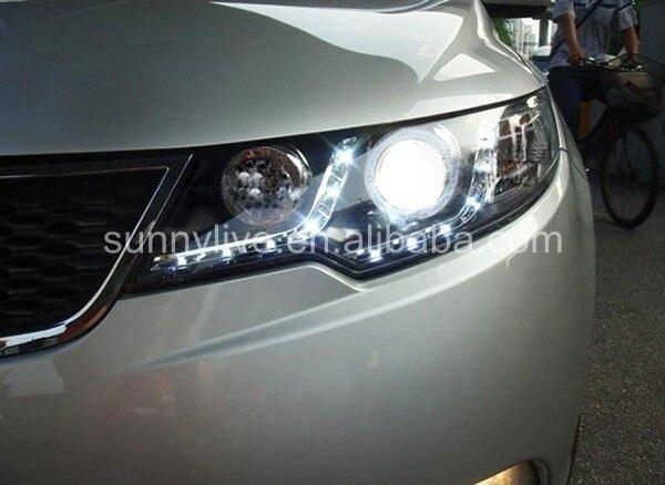 Для Kia Forte Cerato led halo передний светильник 2009-2013 V1
