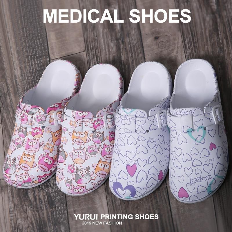 Medical Slippers Medical Clogs Nurse Doctor Work Shoes Clean Sandal EVA Ultralite Nursing Clogs Super Grip Hospital Shoes