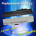 5200 mah Portátil Batería BTY-S11 BTY-S12 de Msi X100 X100-G X100-L Akoya Mini E1210 Wind U100 U90 12 U200 U210 U230