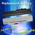5200mah Laptop Battery BTY-S11 BTY-S12 For Msi X100 X100-G X100-L Akoya Mini E1210 U100 U90 Wind 12 U200 U210 U230