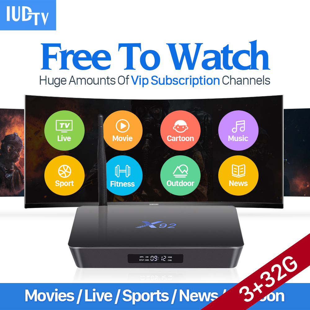 Best 4K Sweden IPTV Europe X92 Smart Android 6 0 TV Box IUDTV Subscription S912 3G