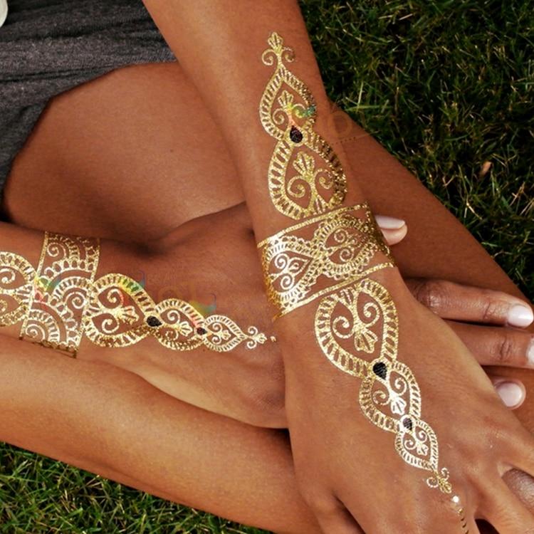 Buyers show body art glitter waterproof temporary tattoo flash ...
