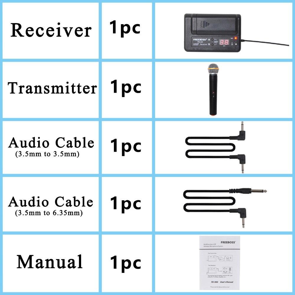 FREEBOSS FB-U03-2P 1 Way 100 ալիք Handheld հաղորդիչ - Դյուրակիր աուդիո և վիդեո - Լուսանկար 5