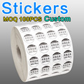 LABEL DIY 1000PCS/lot  Free Shipping Colorful Stickers ,Paper Labels, paper packaging labels Accept custom
