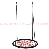 New Outdoor Comfort Durability Hanging Chair Large Hammock Chair Net Round Swing Kit 1pcs