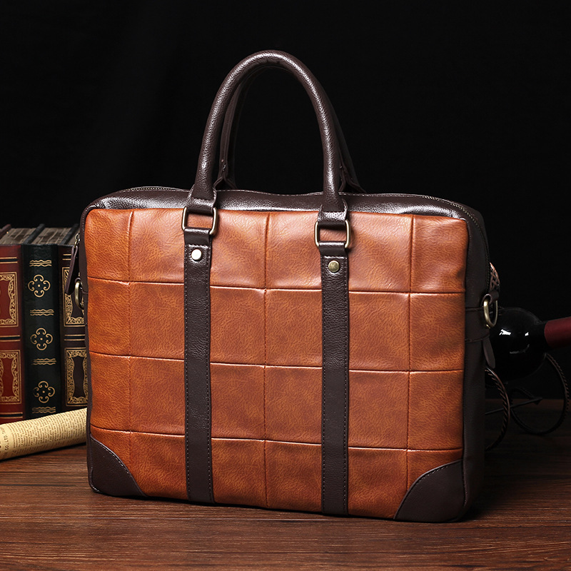 57f658cfd05a Men's business handbag briefcase famous brand sacoche homme messenger bags  laptop tote bag-in Briefcases from Luggage & Bags