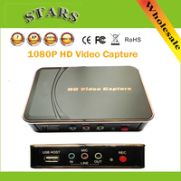 1080P HD Video game HDMI Capture Support HDMI/YPbPr Recorder Box USB Disk For Xbox 360/ PS3 ,Dropshipping Free Shipping