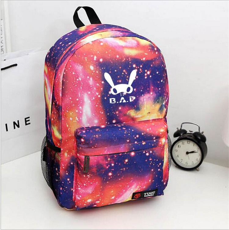 KPOP BAP B.A.P Album Canvas Backpack Jewelry Admission Package New Fashion Backpack Bags Bookbag