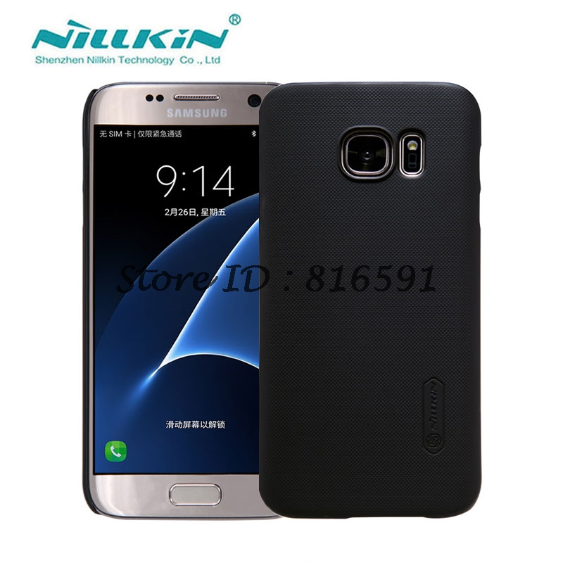 sFor Samsung Galaxy S7 Case Nillkin Frosted Shield Hard Back Cover Case for Samsung Galaxy S7 (5.1 inch) with Screen Protector