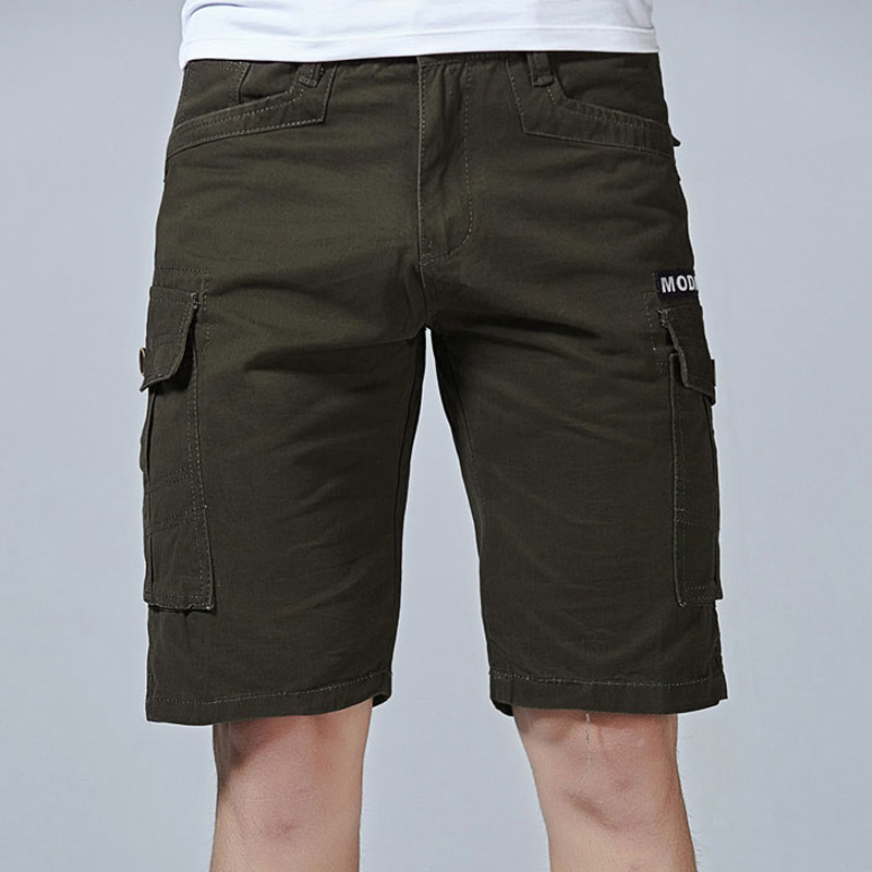 New 2019 Summer Fashion Multi pocket Men Cargo Shorts Mens Casual Loose Workout Short Pants Solid Military Army Tactical Shorts in Casual Shorts from Men 39 s Clothing