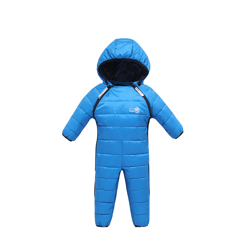 Mioigee 2017 New Winter Baby Snow Overalls Children Romper Duck Down Snowsuit Girl Toddlers Unisex Baby Onesie Thick Jumpsuit